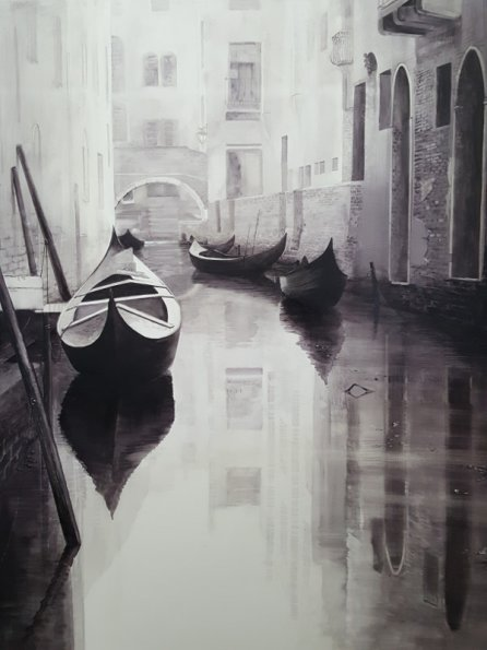 Lonely Canal of Venice